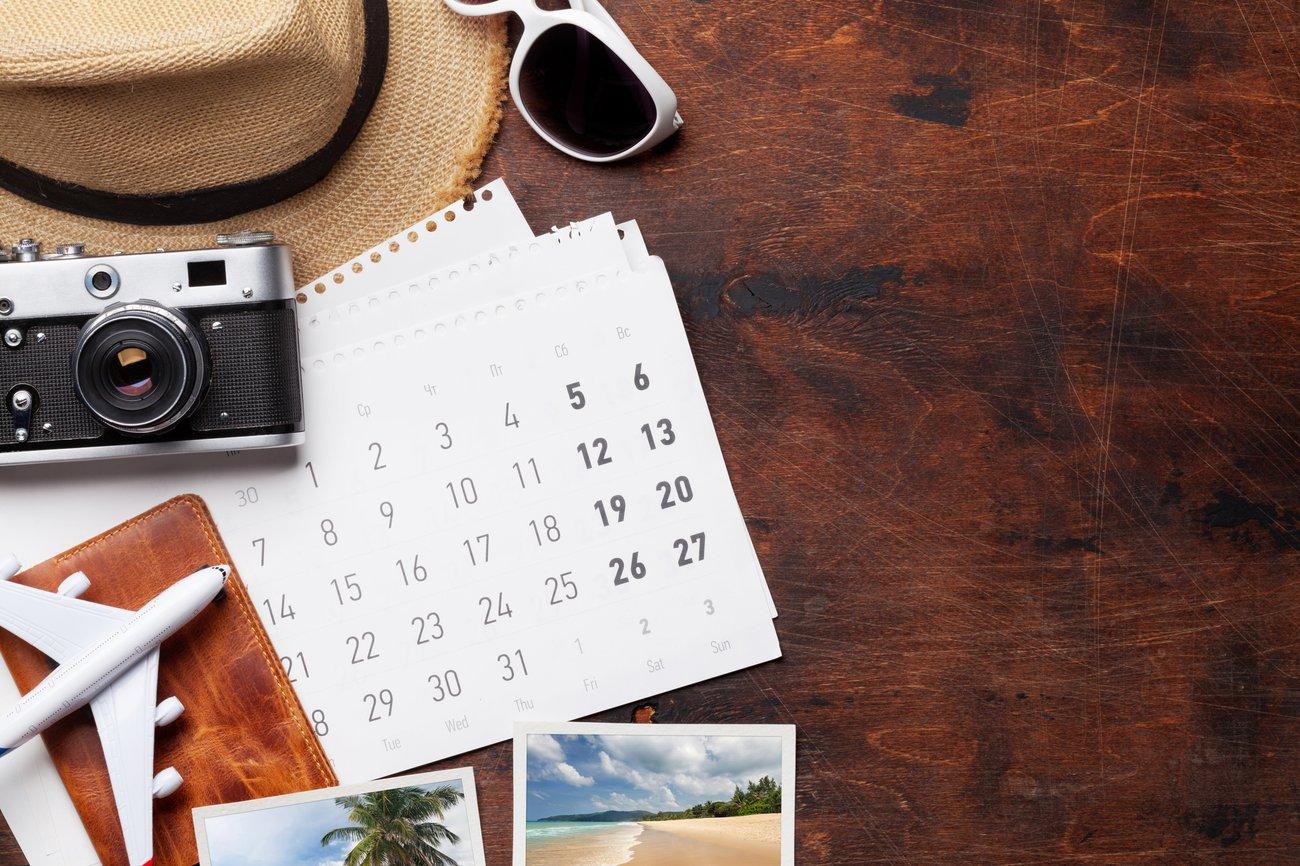 Urlaubsplanung Kalender mit Brückentagen