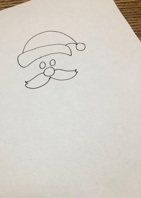 Weihnachtsmann zeichnen