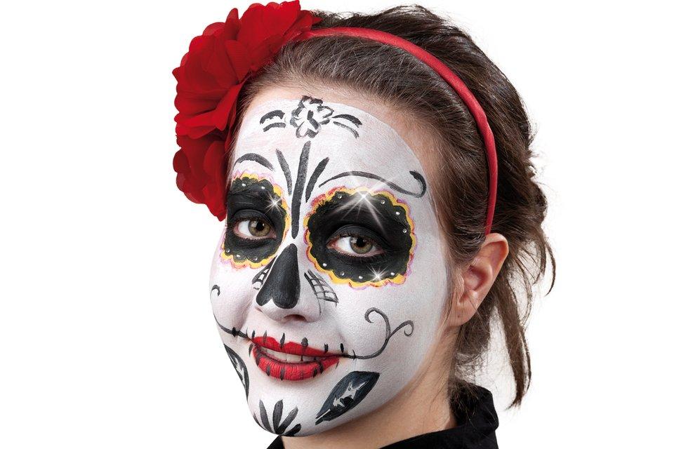 Mexikanische Totenmaske Fur Den Tag Der Toten Schminken Familie De