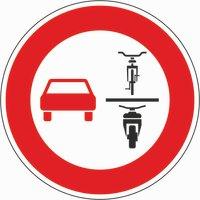 Überholverbot von einspurigen Fahrzeugen