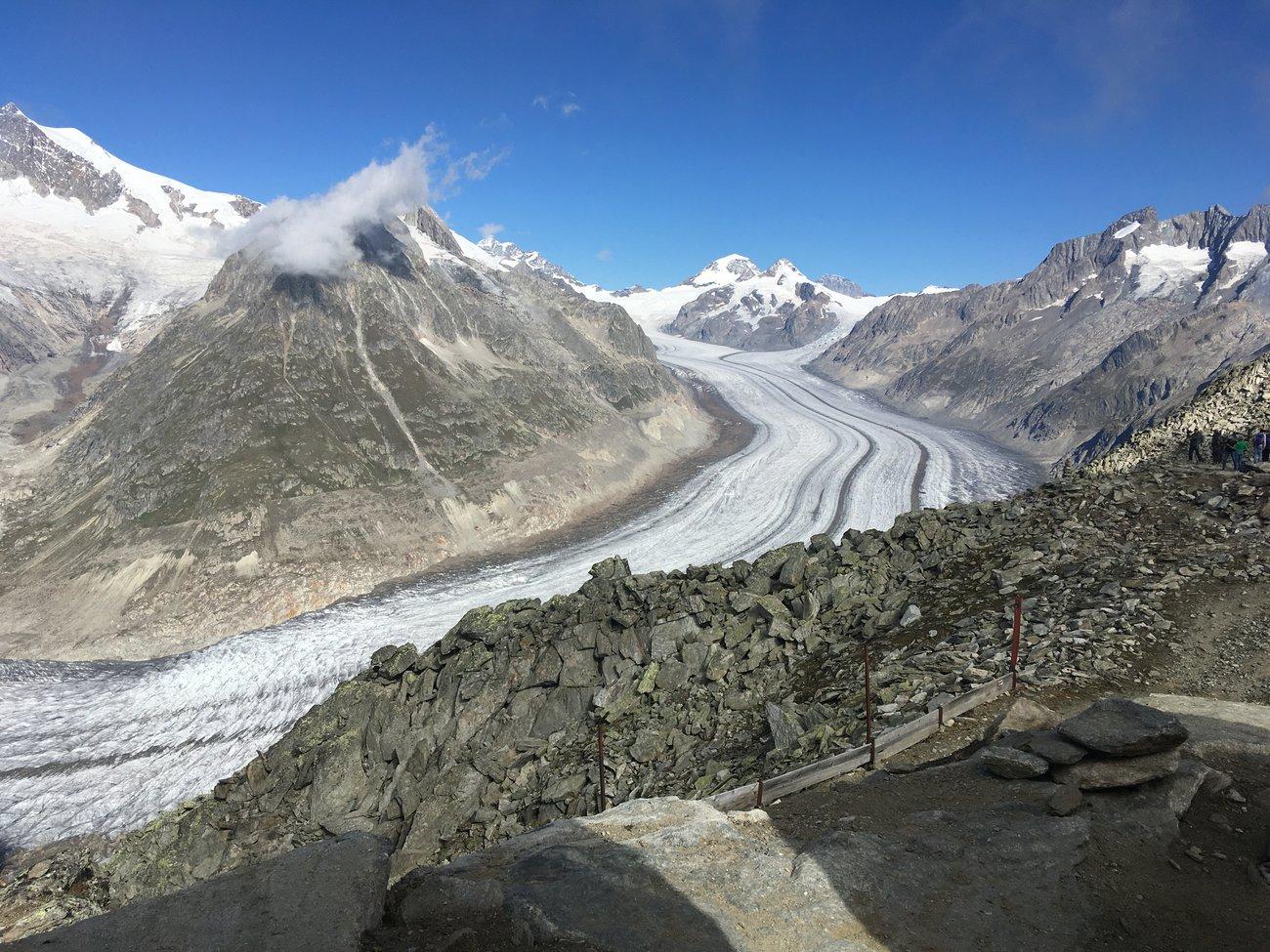 Aletschgletscher Wallis Aussicht