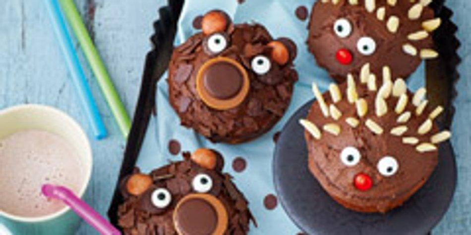 lustige muffins für kindergeburtstag