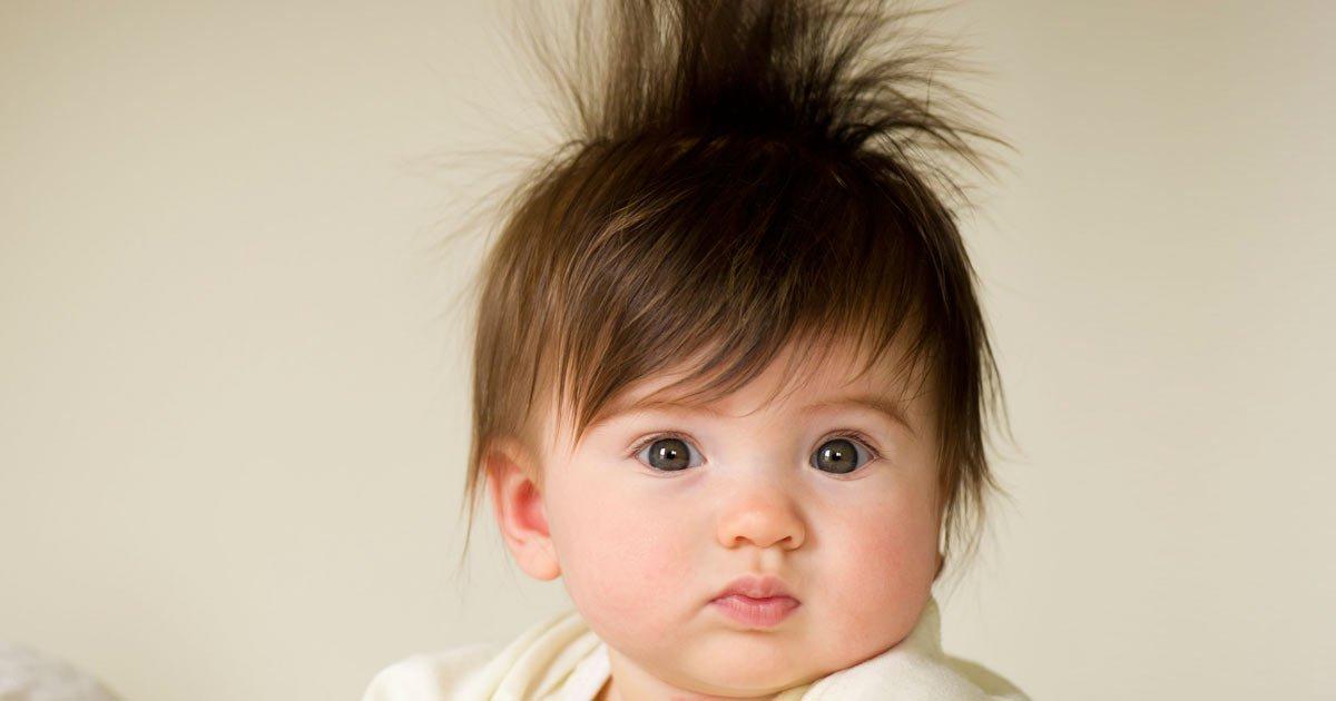 Baby verschiedene haarfarben