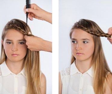 Sich selbst schneidet Teenager-Mädchen Heidi Klum