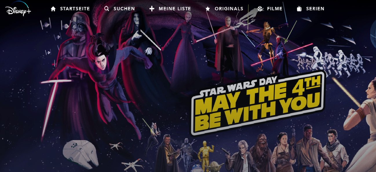 Disney+ Fanart Star Wars Day