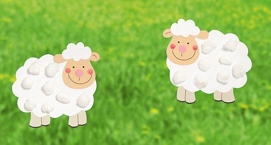 Schaf Schablone Zum Basteln Schafe Basteln 4