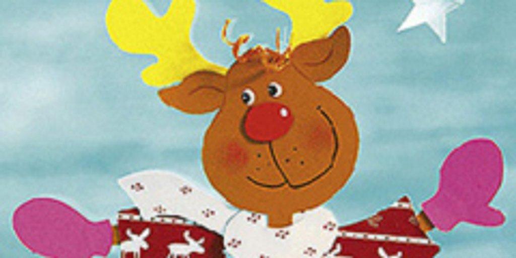 Fensterbild Weihnachten Elchkopf Mit Schal