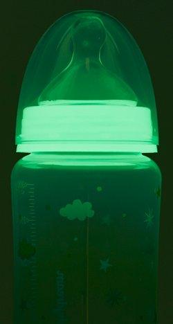 Leuchtende Babyflasche