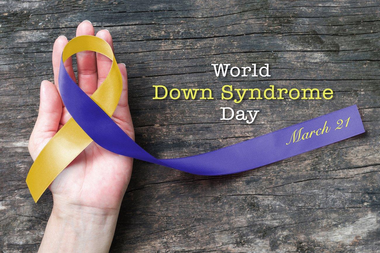 Welt-Down-Syndrom Tag im März