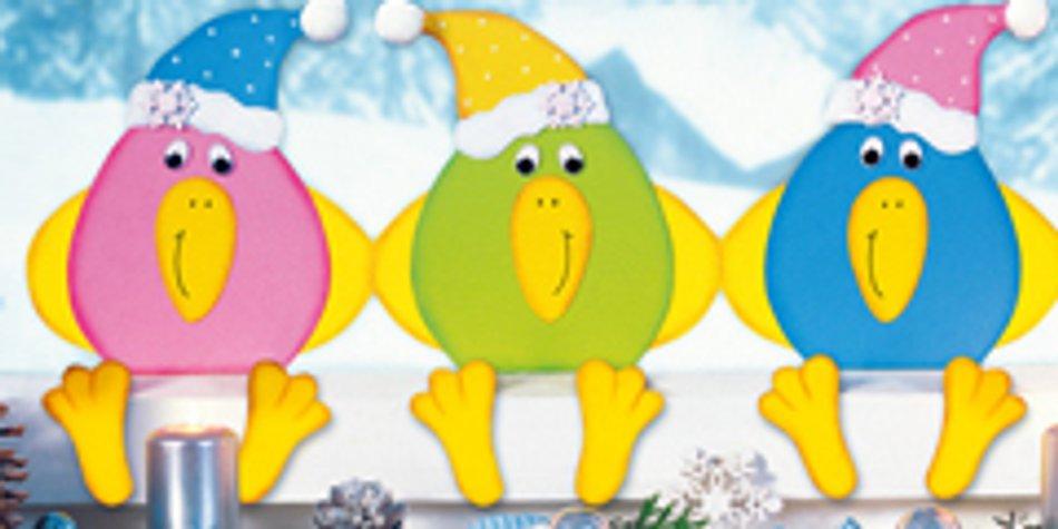Basteln Im Winter Lustige Schnee Vögel Familiede