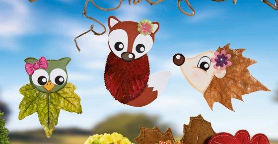 Tiere Aus Blättern Basteln Fürs Fenster Familiede