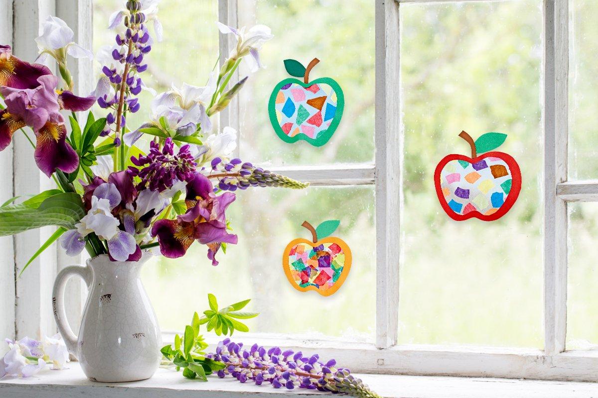 Fensterbild Leuchtende äpfel Basteln Familie De