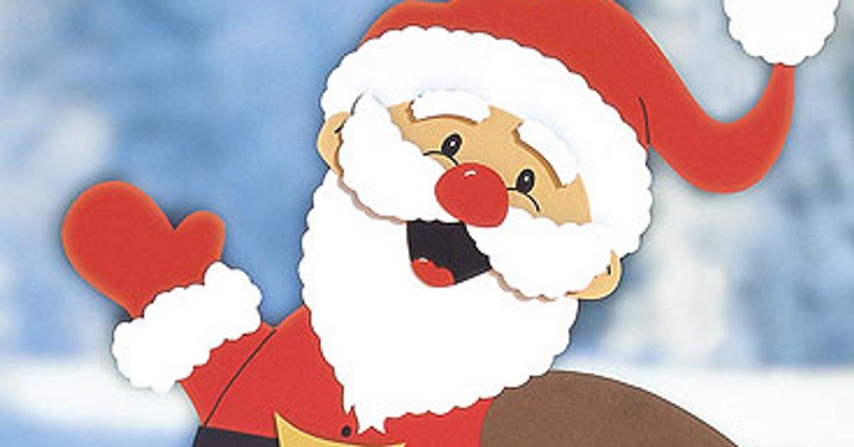 Applikation Weihnachtsmann Diy Gift Hello 14