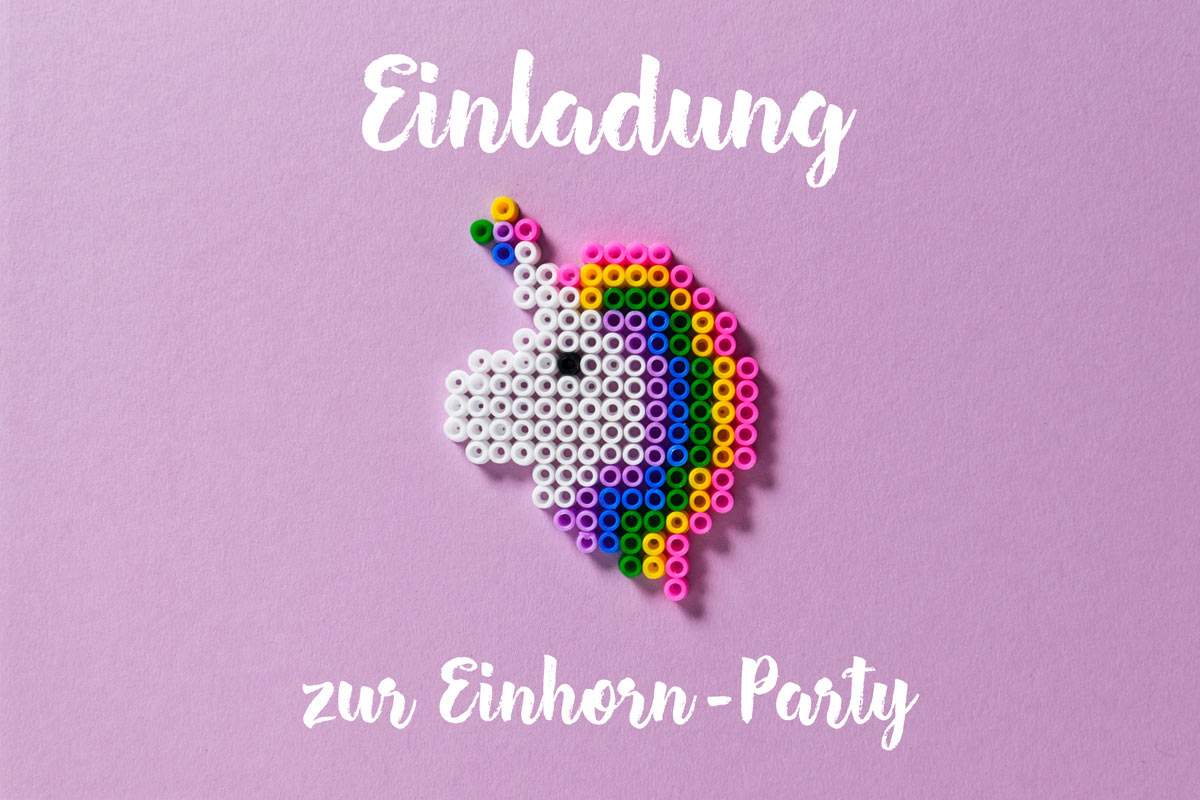 Einladung Zur Einhorn Party Familiede