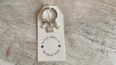Geschenk zum Richtfest: Schlüsselanhänger