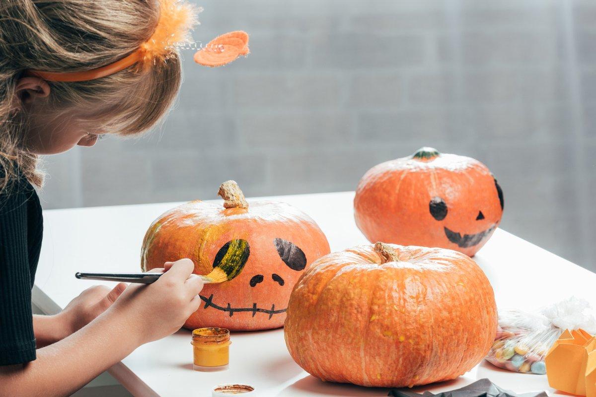 Kurbis Bemalen Ideen Deko Feiern Halloween