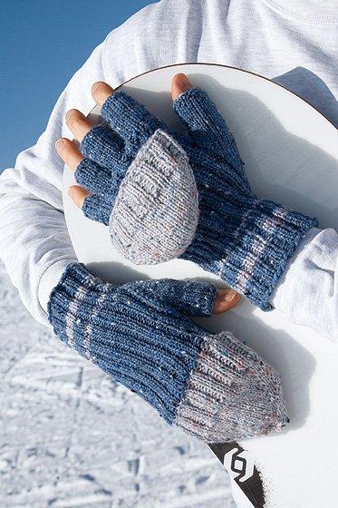 Blaue Handschuhe stricken  familie.de