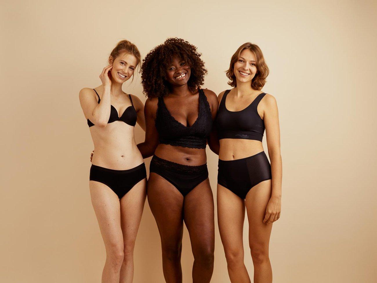 ooia Periodenunterwäsche 3 Models Hipster, Slip und Highwaist