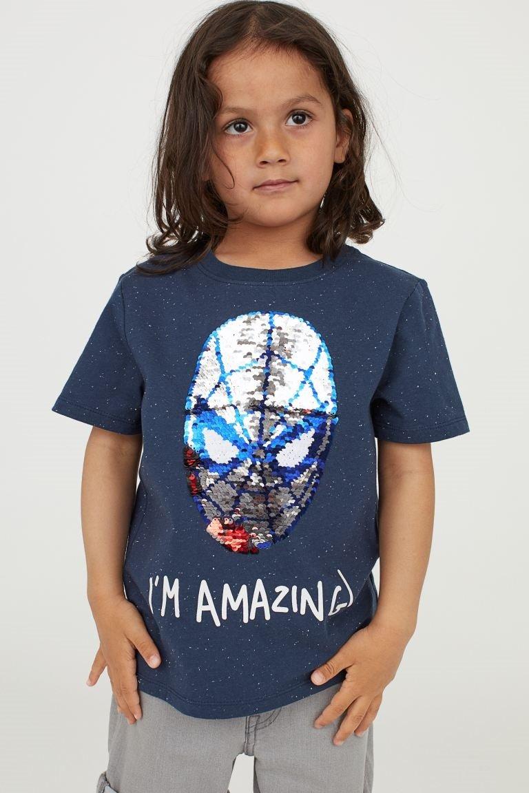 Spiderman T-Shirt Wendepailetten H & M
