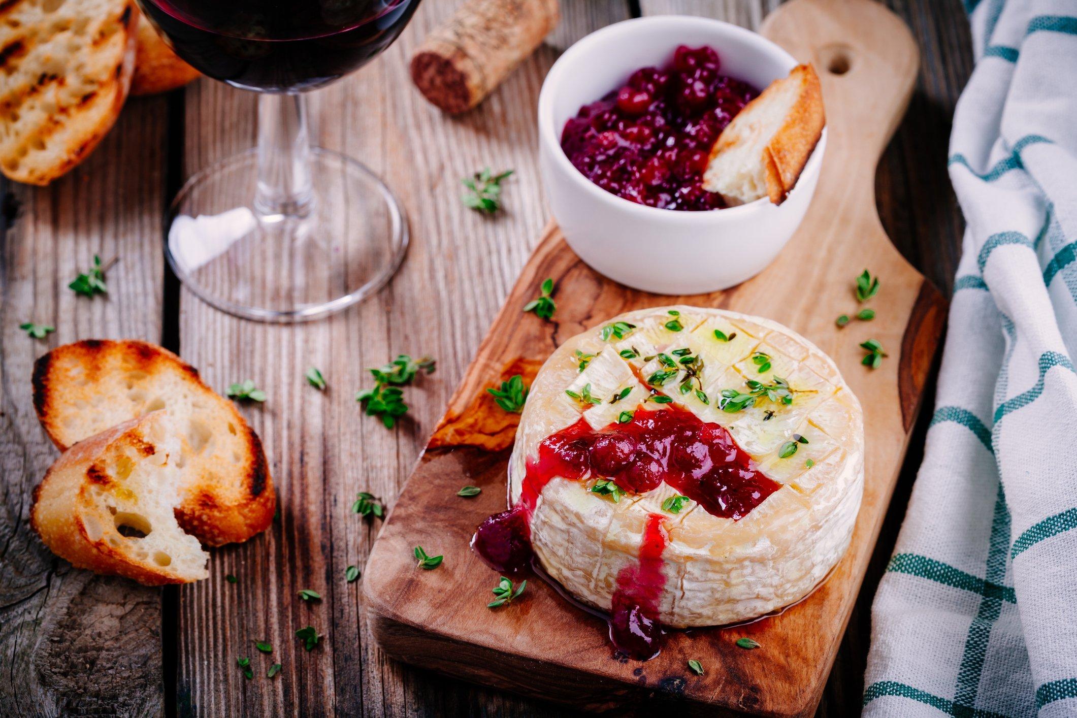 Vegetarisches Weihnachtsessen: Gebackener Camembert