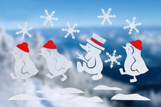 Fenstertattoo Pinguine Im Schnee Familiede