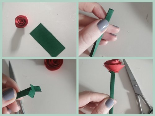 Rose basteln Step 3