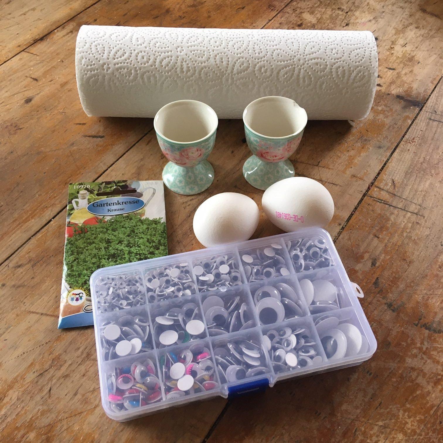 Lustige Kresse-Eier-Köpfe: Lecker, witzig und schnell gemacht