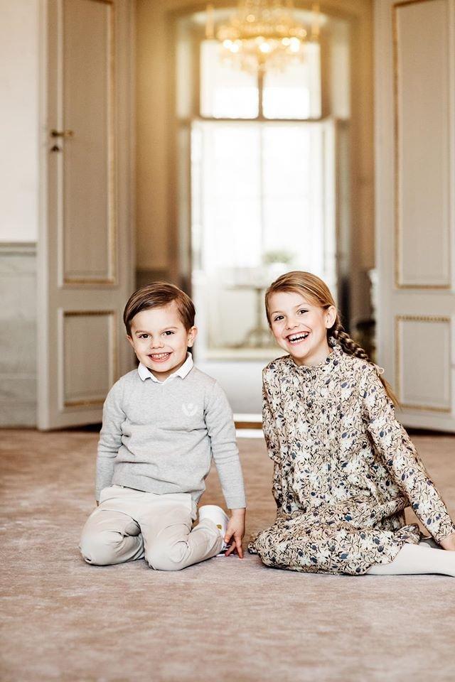 Estelle und Oscar von Schweden