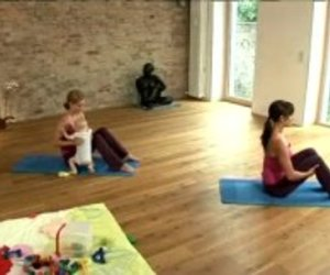 Pilates mit dem Baby: Rolling like a Ball