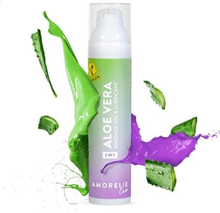 Amorelie Care - 2in1 Gleitgel Massageöl Wasserbasiert Aloe Vera