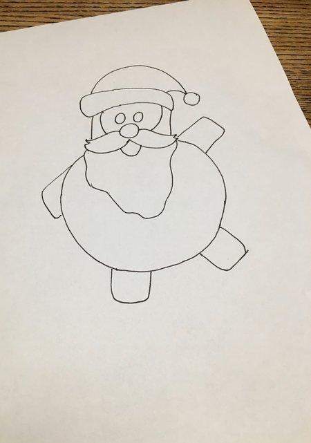 Weihnachtsmann malen