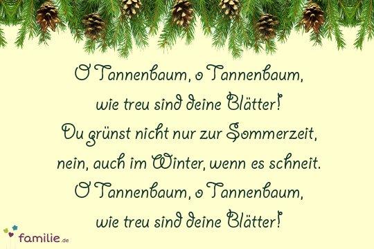 O Tannenbaum Lied.Weihnachtslieder Die Deutschen Klassiker Familie De