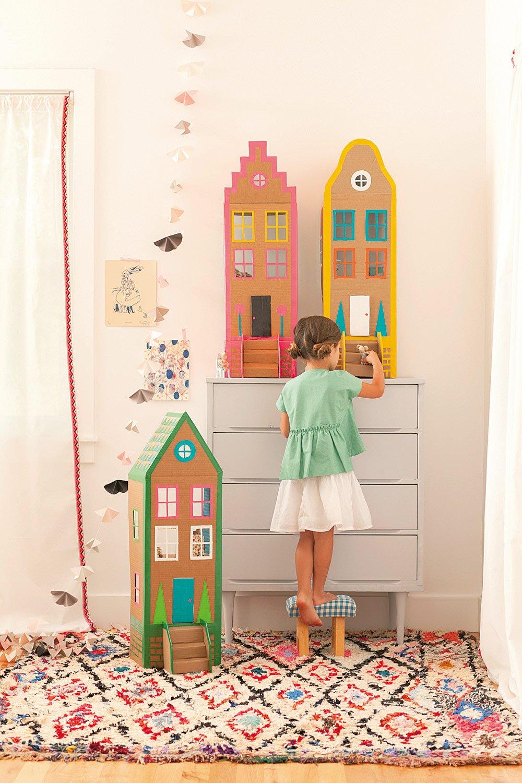 Pappkarton Villa Ein Spielhaus Aus Pappe Familiede