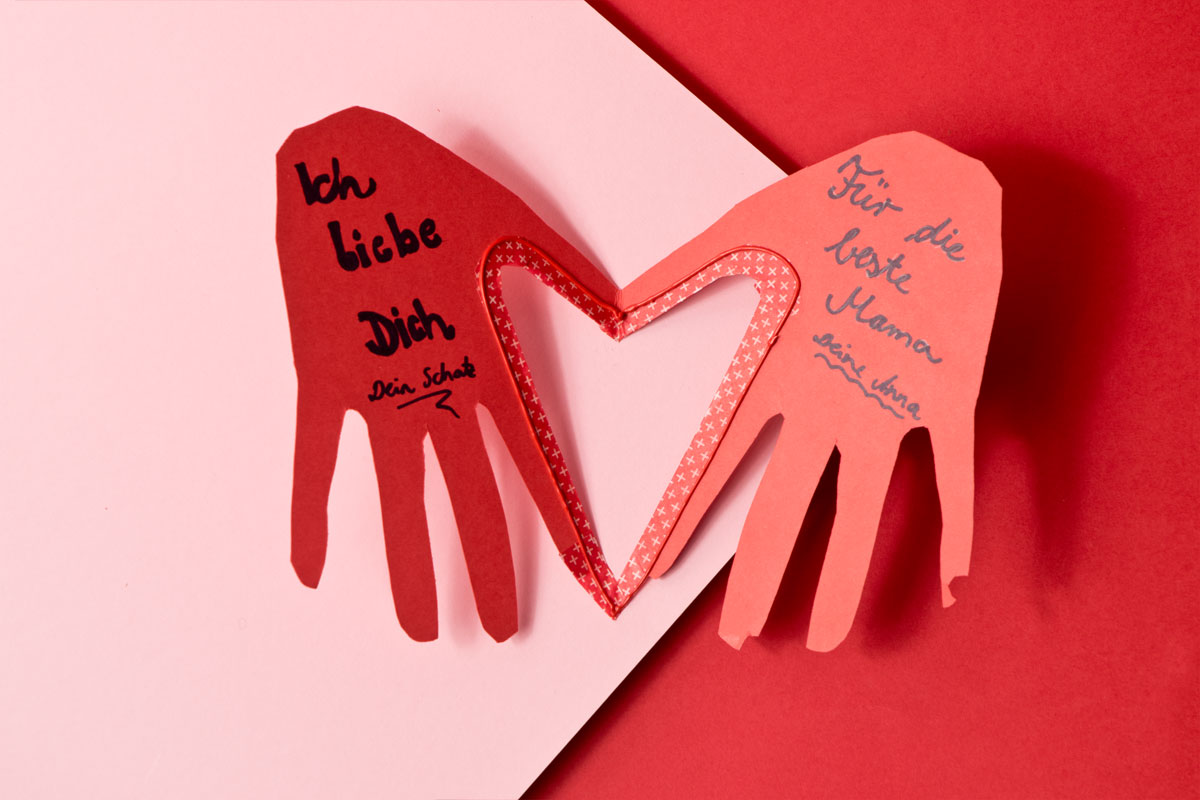 Valentinstag Karte Von Herzen Selbst Gemacht Familiede