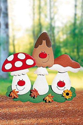 Herbstbasteln Bastelvorlage Pilze