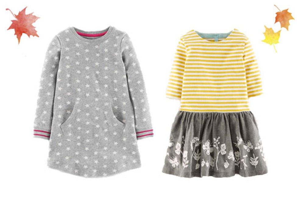 Sigikid Kleid langarm Shirtkleid Stehkragen blau Baumwolle Kinder Gr 116