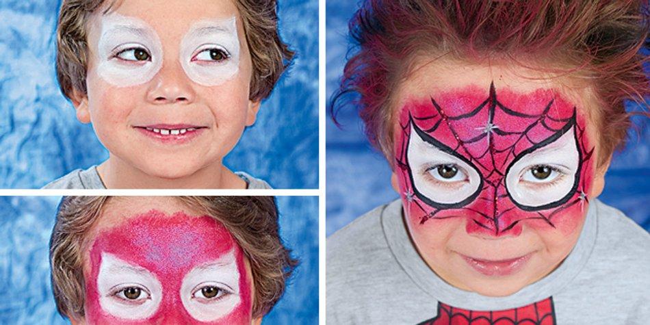 Schmink Anleitung Fur Spiderman Familie De