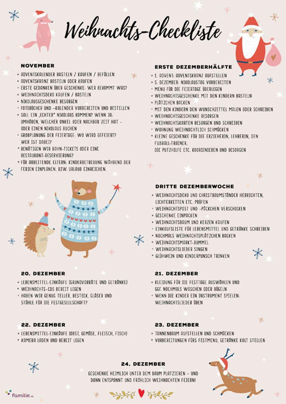 Weihnachts Checkliste Fur Eine Entspannte Adventszeit Familie De