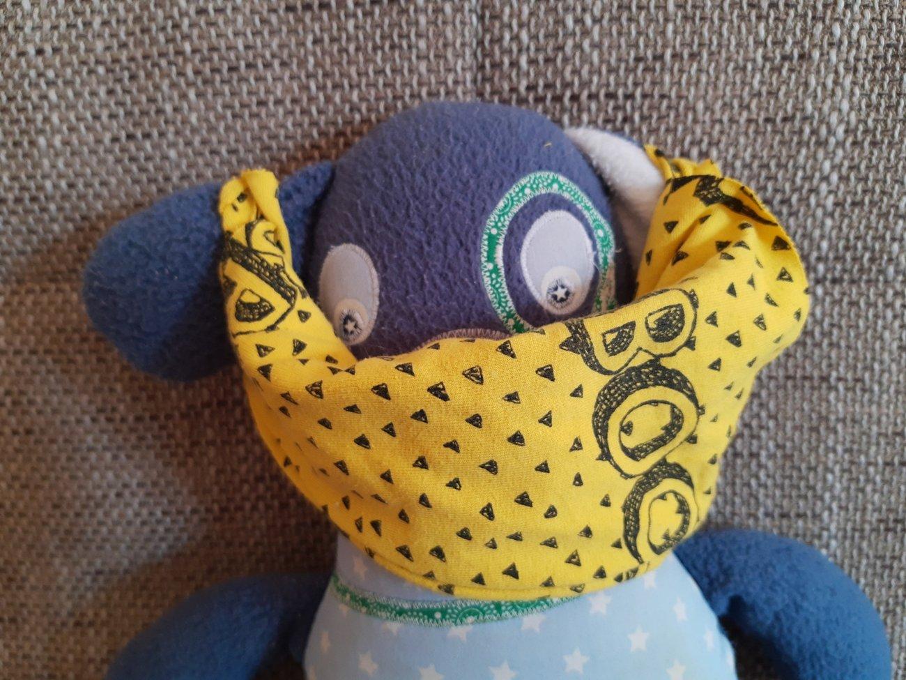 Maske ohne Nähen Version 2