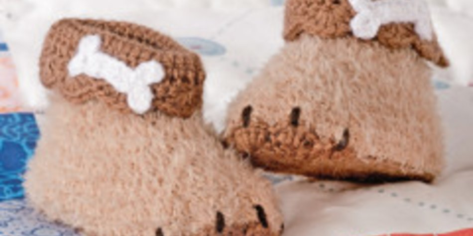 Babyschühchen häkeln: Süße Hundepfötchen |