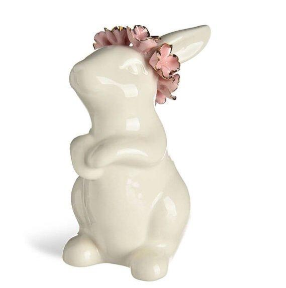 Osterdeko 2020 Hase mit Blumenkrone