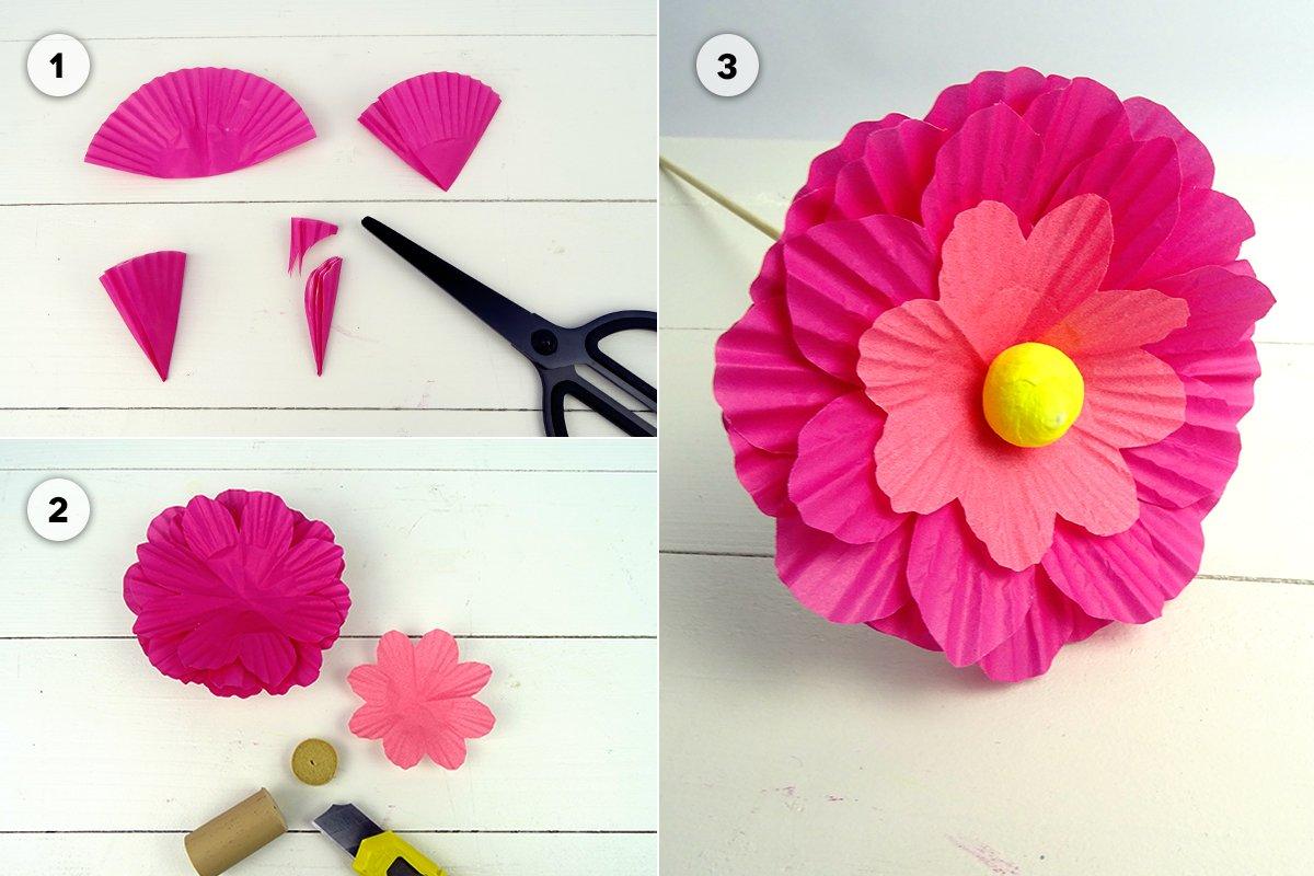 Papierblumen Als Tischdeko Für Den Frühling Familiede