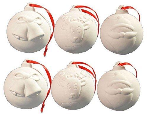 Christbaumkugeln bemalen: Kugeln aus Keramik bemalen