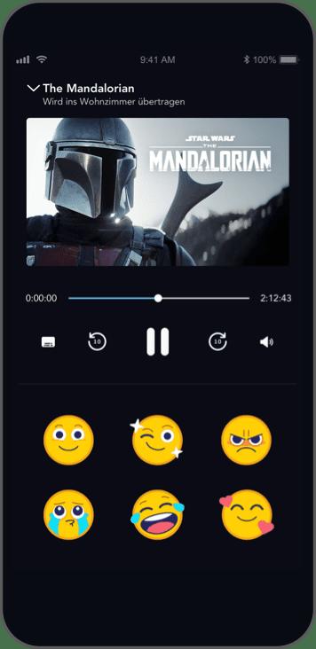 Disney+ App gemeinsam Streamen kommentieren