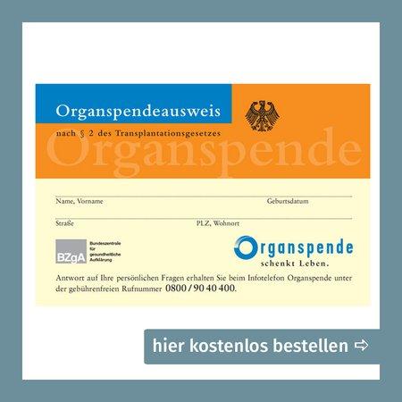 Organspendeausweis bestellen