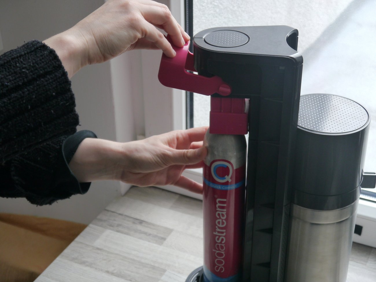 Soda Stream Quickzylinder wechseln