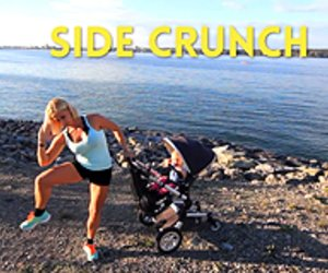 Side Crunch mit Kinderwagen