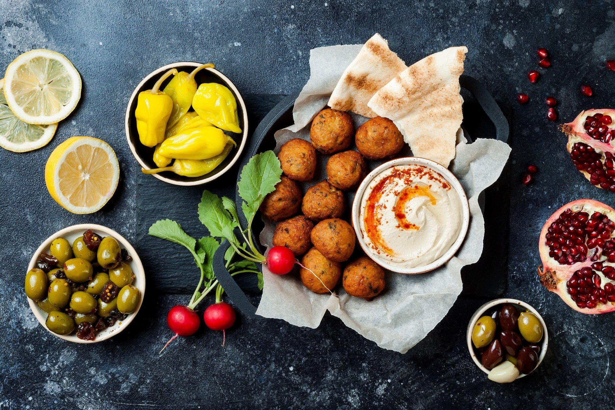 Vegetarisches Weihnachtsessen: Falafel