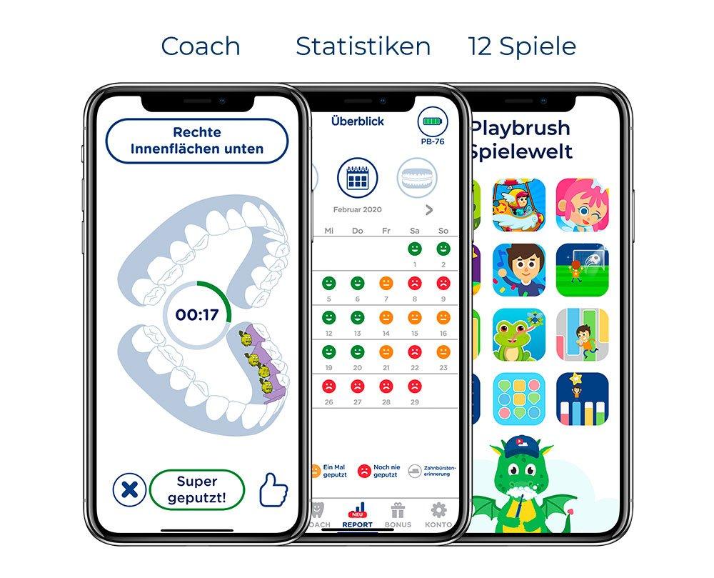 Statistiken und Oberflächen in der Playbrush-App