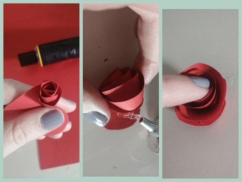 Rose basteln Step 2